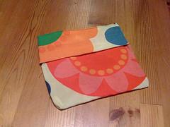 Reusable beeswax cloth sandwich bag