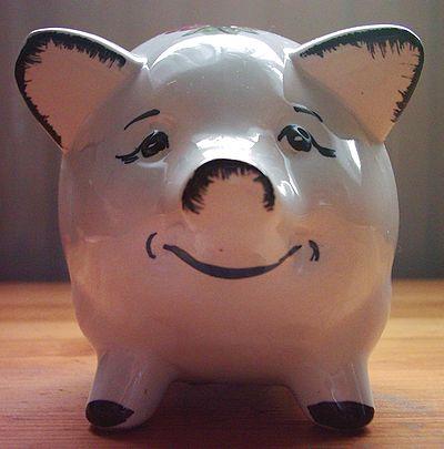 Piggy bank from German bank HASPA, around 1970.