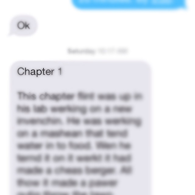 Blurry screen shot of a texted chapter synopsis.