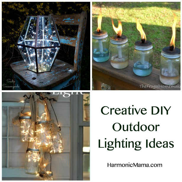 Friday finds creative diy outdoor lighting ideas harmonic mama friday finds creative diy outdoor lighting ideas aloadofball Gallery